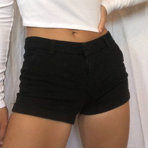 Bluenotes | Black Mid rise Shorts